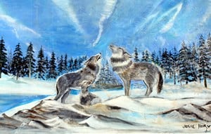 """Howling Wolves"" by Josie Horvath, Gimli, Manitoba, Canada"