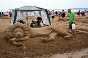 Sand Sculptures On Vancouver Island