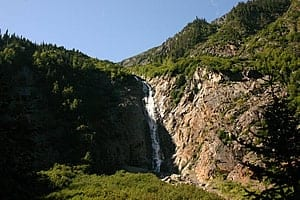 The Right Falls of the Twin Falls in Smithers, BC