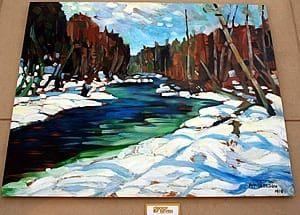 """Stream in the Wood "" by A.Y. Jackson (Group of Seven), Huntsville, Ontario"