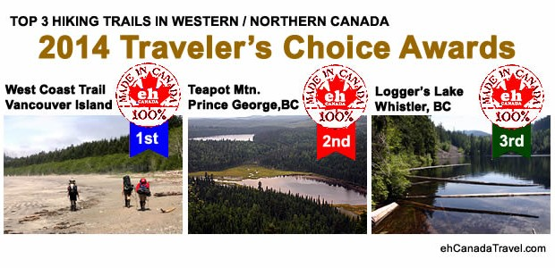 TOP 3 HIKING TRAILSin CANADA 2014 Traveler's Choice Awards Top 3 Hikes in Western / Northern Canada Back to 2014 Traveler's Choice Award Winners Hiking Trails Western / Northern Canada's […]