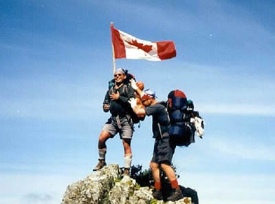 Raising the Canadian Flag