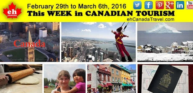 Sharing is Canadian!Facebook0Twitter5Google+Pinterest18sharesCanada Tourism News for February 29th to March 6th, 2016 Top 16 Canadian tourism and travel news stories, tips, trends, videos, lists for the 1st week of March 2016       […]