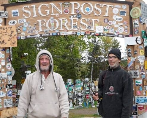 Greg & Colin at Sign Post Forest