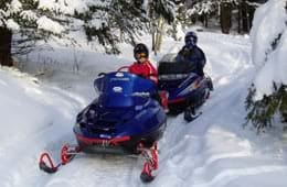 Go on a Snowmobile Tour in Canada