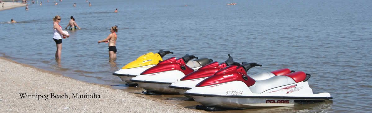 Jetskiing at Winnipeg Beach