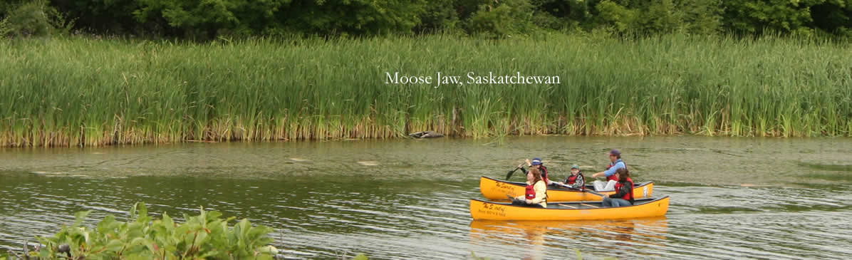 Canoeing near Moose Jaw, Saskatchewan, Canada