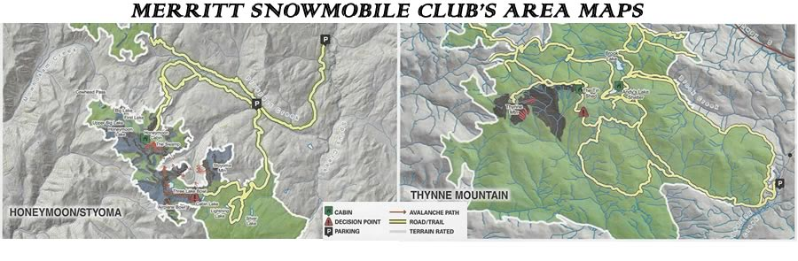 Snowmobile trails maps