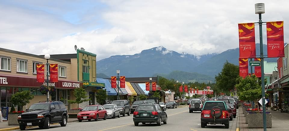 Downtown Squamish, BC, Canada