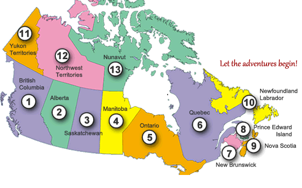 Canada Travel Map