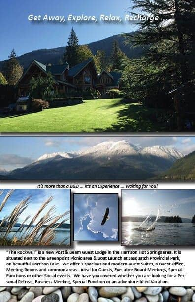 Do you want to Get Away?  This is the place ... no crowds, close to Nature.  Luxury in a Natural setting.  #HarrisonHotSprings #ToursimHarrison #HarrisonLake #SasquatchProvincialPark
