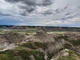 Horsethief Canyon  - Not far from Drumheller, AB, you'll find this super interesting area of the badlands. If you zoom in, you'll see 2 humans on the peak in the centre. That's my brother and I.