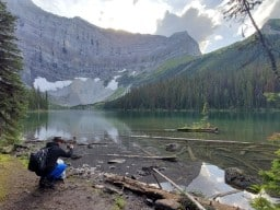 Rawson Lake - I hiked up here with 2 of my brothers. It was a great day in the mountains. My brother Brad actually got in the water to go swimming! Pure mountain snow run off! Cooooold!