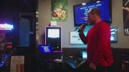 Karaoke at Captains Pub - Kareoke time at Captains with my brother! Great food and atmosphere. Located on 4th St NE Calgary