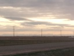 First Glance of The Canadian Rockies  - First peek at the mountains as you approach Calgary from the East on Highway 1